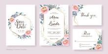 Floral Wedding Invitation, Sav...