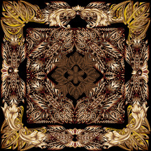 Brown Curled Background Square...