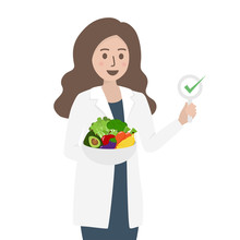 Female Nutritionist Doctor Or ...