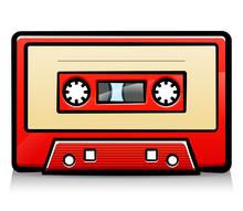 Vector Vintage Audio Tape Cart...