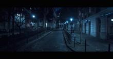 Illuminated Lampposts In Street
