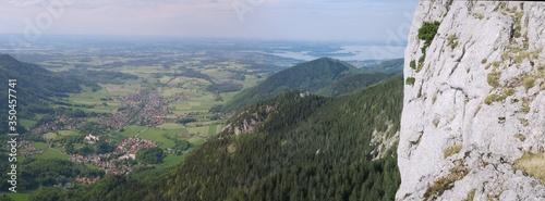 Panoramablick auf Chiemsee und Aschau Canvas Print