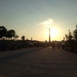 Silhouette Luxor Obelisk In Place De La Concorde Against Sunset Sky