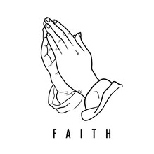 Faith Praying Hands