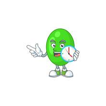 Cartoon Drawing Concept Of Tetrad With A Circle Clock