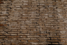 Old White, Irregular Brick Wal...