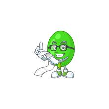 Cartoon Mascot Design Of Tetrad Holding A Menu List