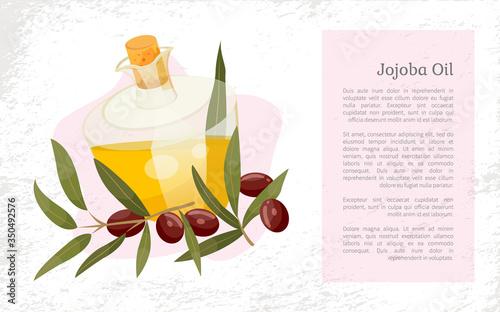 Fotografie, Obraz Glassware golden liquid, jojoba oil