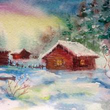 Watercolor Colorful Bright Tex...