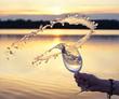 frisches spritziges Wasser