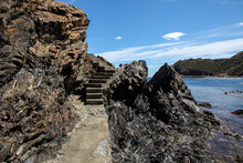 Coastal Cliffs And Stairs In S...