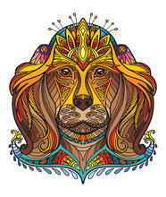 Vector Ornamental Dog