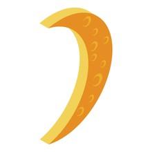 Karaoke Moon Icon. Isometric O...
