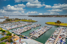 Many Yachts In A Marina In San...