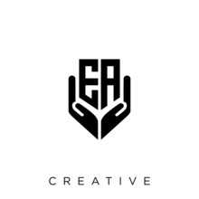 Ea Shield Hand Logo Design Vector Icon