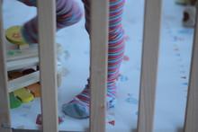 Little Baby Feet In A Wooden B...
