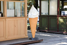Big Ice Cream Cone Shape Signboard