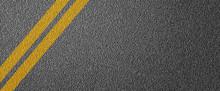 3D Illustration Of A Road Divi...