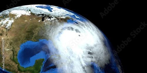 Photo Hurricane Arthur Storm 3d illustration