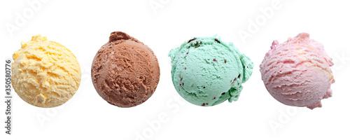Obraz na plátně Ice cream scoop flavors