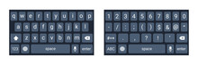 Mobile Phone Keyboard Mockup, ...