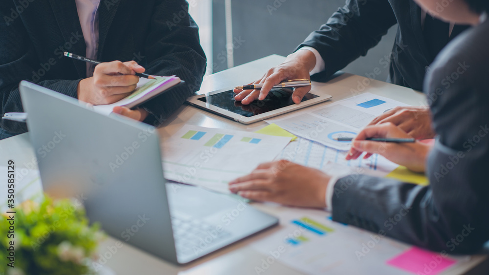 Fototapeta Business people are analyzing and planning business. Business Strategy Consulting