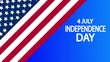 july 4 horizontal banner usa independence day