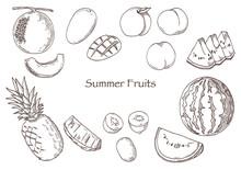 Vector Illustration Of Summer ...
