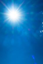 Shining Sun With Bokeh Light &...