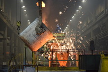 Steelworker At Work In A Factory