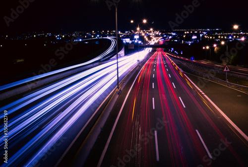 Una autopista que nunca duerme Canvas Print