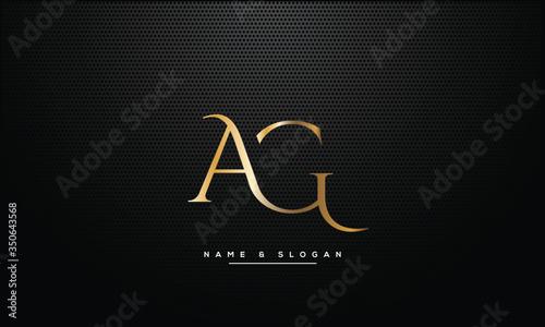AG ,GA ,A ,G  letters abstract logo monogram Wallpaper Mural