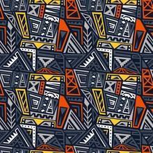 Indigenous Pattern Fashion Print