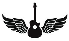Black Guitar And Wings