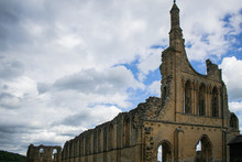 Byland Abbey Ruins From Its Fa...