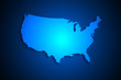 United States map on network connection, blue USA map, vector