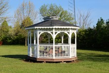 The Gazebo In The Park On A Su...