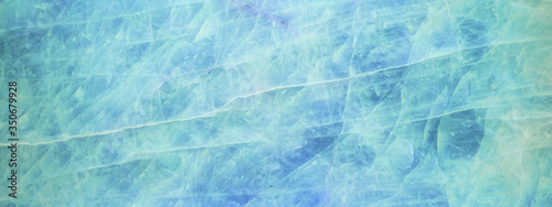 Blue aquamarine turquoise abstract rose quartz marbled texture background banner