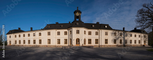 A castle from 1600s on the island Svartsjö in the district Mälarö close to Stock Canvas Print