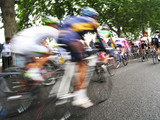 Fototapeta Fototapeta Londyn - The Tour of Britain is a multi-stage cycling race, conducted on British roads, in which participants race across Great Britain to complete the race in the fastest time.