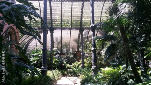 Canvas-taulu View Of Interior Of Glasshouse