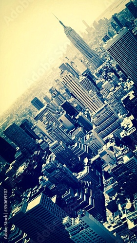 Fotografija High Angle View Of Empire State Building With Cityscape Against Sky
