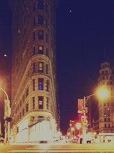 Low Angle View Of Flatiron Building At Night