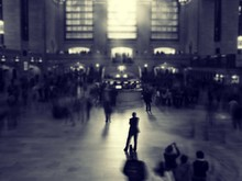 People At Grand Central Station In City