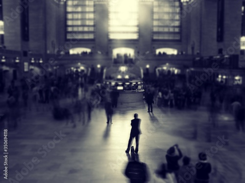 People At Grand Central Station In City Wallpaper Mural