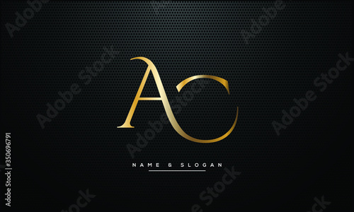 Photo AC ,CA ,A ,C  letters abstract logo monogram