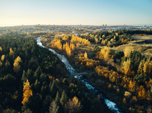 Fast River Through Autumn Coun...