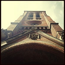 Low Angle View Of Church Tower