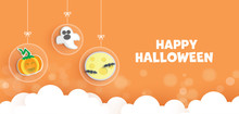 Happy Halloween Banner In Pape...