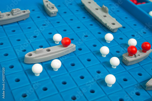 Leinwand Poster Battleship, board game